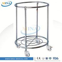 MINA-LT17 high quality high strength convenient classic hot-sell CE approved Soiled linen trolley with plastic bucket