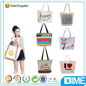 Nice Custom Printed Canvas Tote Bags In Shopping Bag