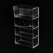 Countertop Transparent Clear Tall 4 Pair Eyewear Sunglass Rack with 4 Drawers & Fingure position Sunglasses Holder Display Stand