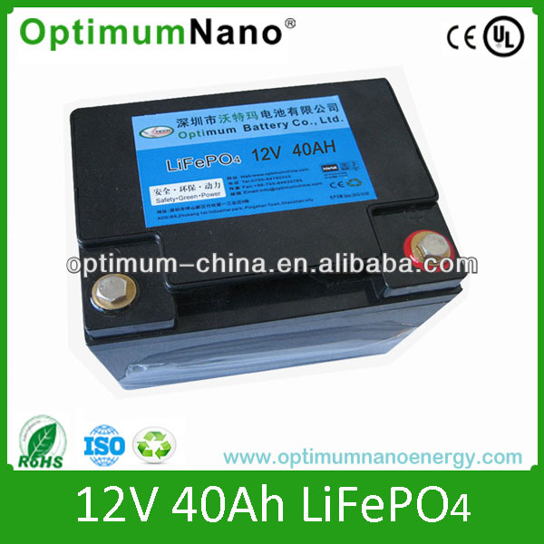 UPS/energy storage12 V 40Ah LiFePO4 battery for UPS/energy storage/backup supplies