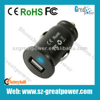 DC 5V/2A Latest Mini Car USB Charger for IPAD/ IPhone etc