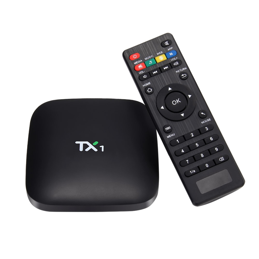 Tanix TX1 Amlogic S805 quad core TV Box Android 1G/8G 802.11 b/<strong>g</strong>/n LAN H.265 <strong>1080P</strong> DLNA AirPlay
