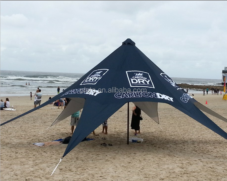Custom advertising star shade tent inflatable event star tent, big black star tent for sale