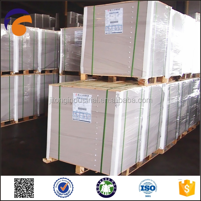 Fuyang PAPER A Grade White Coated Duplex Board Grey back/Mix Wood Pulp Coated Ivory Board for Packaging Industrial