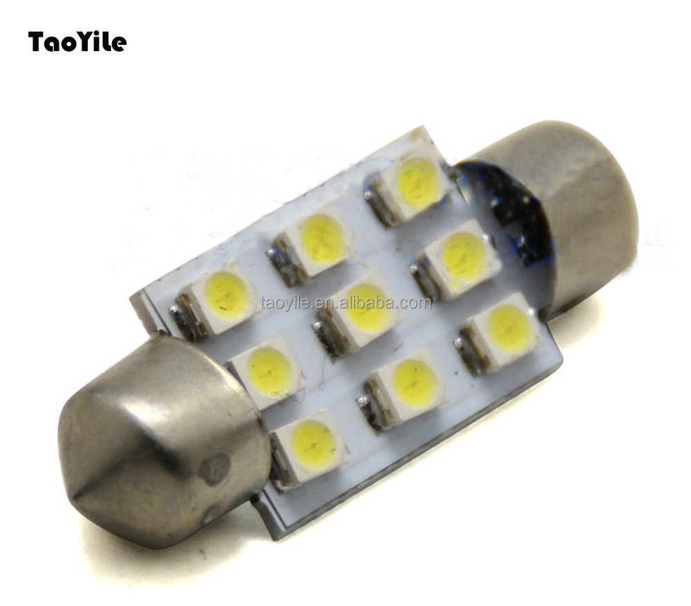Car accessories festoon 9smd 36mm 3528 LED auto dome lights license plate lights