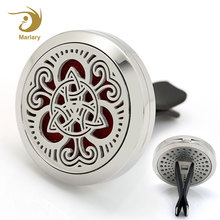 Stainless Steel Locket Car Air Freshener Hanging Best Car Perfume