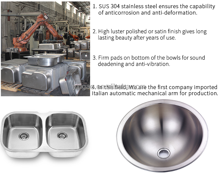 New Style Luxury Small Single Bowl Round Mobile Kitchen Stainless Steel Sink