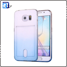 New ultra slim tpu case gradient color mobile phone case back cover for samsung galaxy s6 edge
