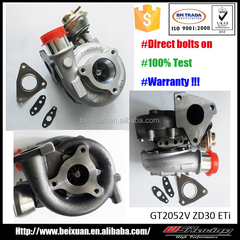 ZD30 ETi turbo charger for nissan patrol Y61 GU turbocharger GT2052V