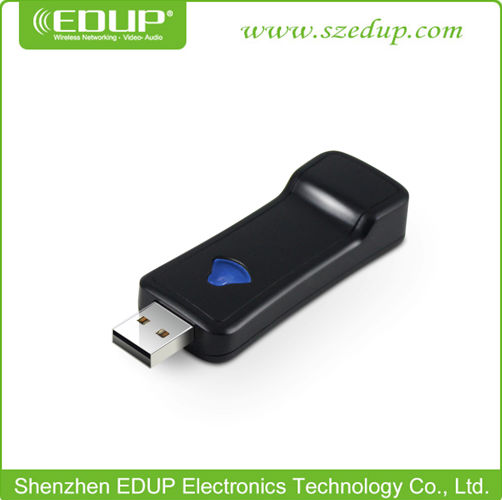 EDUP brand latest products usb power wireless TV network card with 150Mbps repeater function for any ethernet port device