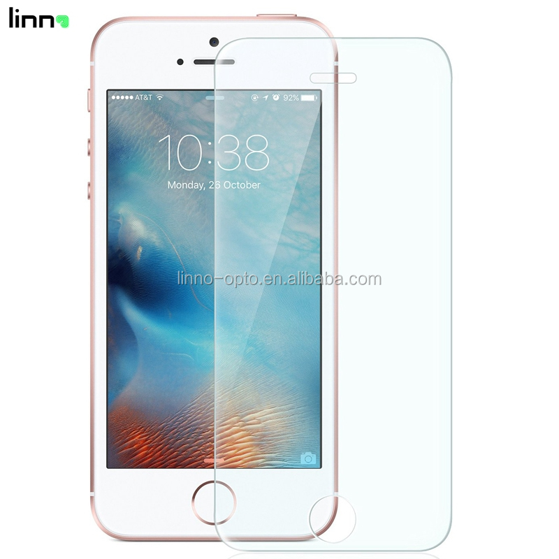 0.3mm 9H anti-scratch mobile phone screen protector for iphone se tempered glass