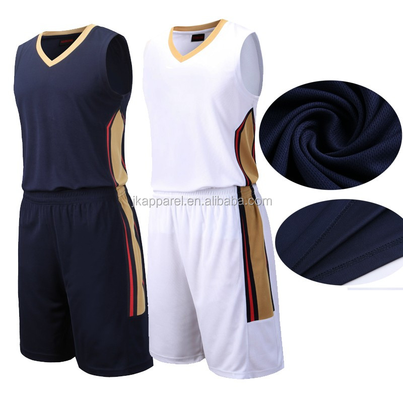 Latest design custom best blank youth sublimation print dry fit reversible basketball jersey