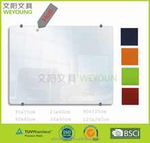 New Product Tempered Glass Notice Board Dry Erase Glass White Board Magnetic Glass Board Wall Mounted