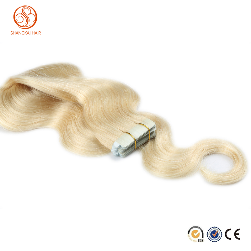 Highest Quality Russian Remy Body Wave Tape in Human Hair Extensions