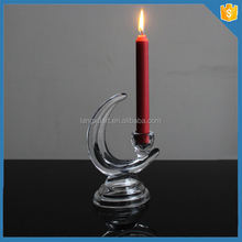Decorative moon shape crystal candle holder