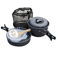 Wholesale Outdoor Camping Cookware Set Pots and Pans Camping Equiment with 9pcs Lightweight Aluminium