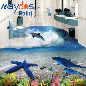 Chemical resistance 3d epoxy resin floor coating