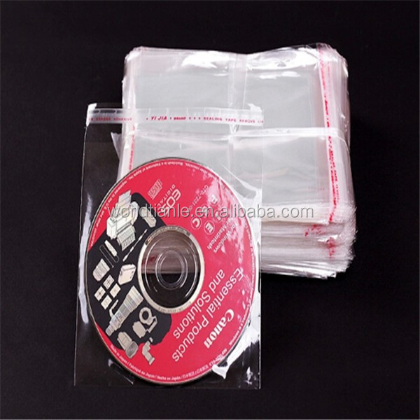 Good Quality but Cheap Factory Packaged CD OPP Bag with Self-Sticky Tape