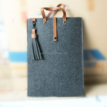Wool Felt Sleeve Case for Laptop with Leather Handle