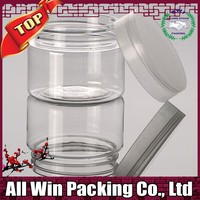 Cosmetic grade Pet jar with metal cap, of Volume 200g to 250g