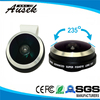 Portable mobile phone lens with 235 degree angle