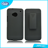 Wholesale slim armor stand case housing for HTC one m7
