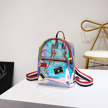 Wholesale Satchel Bag Multifunctional Mini <strong>Backpack</strong> Bag for Girl Transparent PVC Laser Jelly <strong>Backpack</strong>