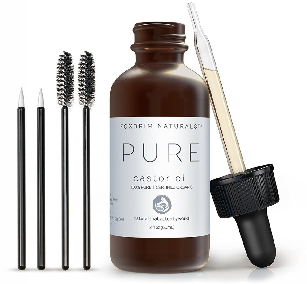 Private Label Pure Organic Castor <strong>Oil</strong> For Hair Eyebrow Eyelash Beard Growth