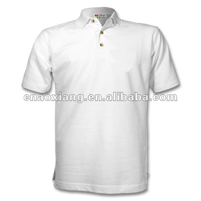Wholesale cheap blank white men's polo shirt t-shirt