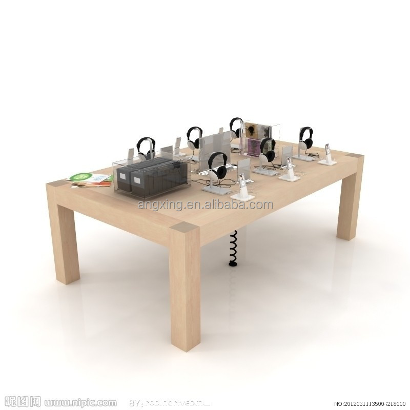 Apple store wood display table with 4 legs buy apple for Html display table