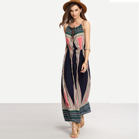 Female halter long one piece dress beach girls without dress long dress chiffon new style