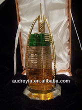 Crystal Dubai Burj Al Arab Hotel For UAE Souvenir