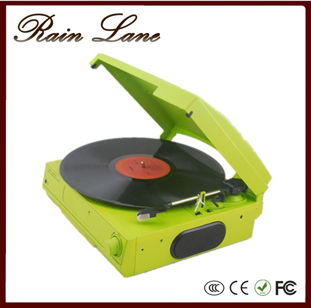 Rain Lane Colorful And Classic 35/45/78 Speed Turntable USB To SD Video Converter High Quality Record Player