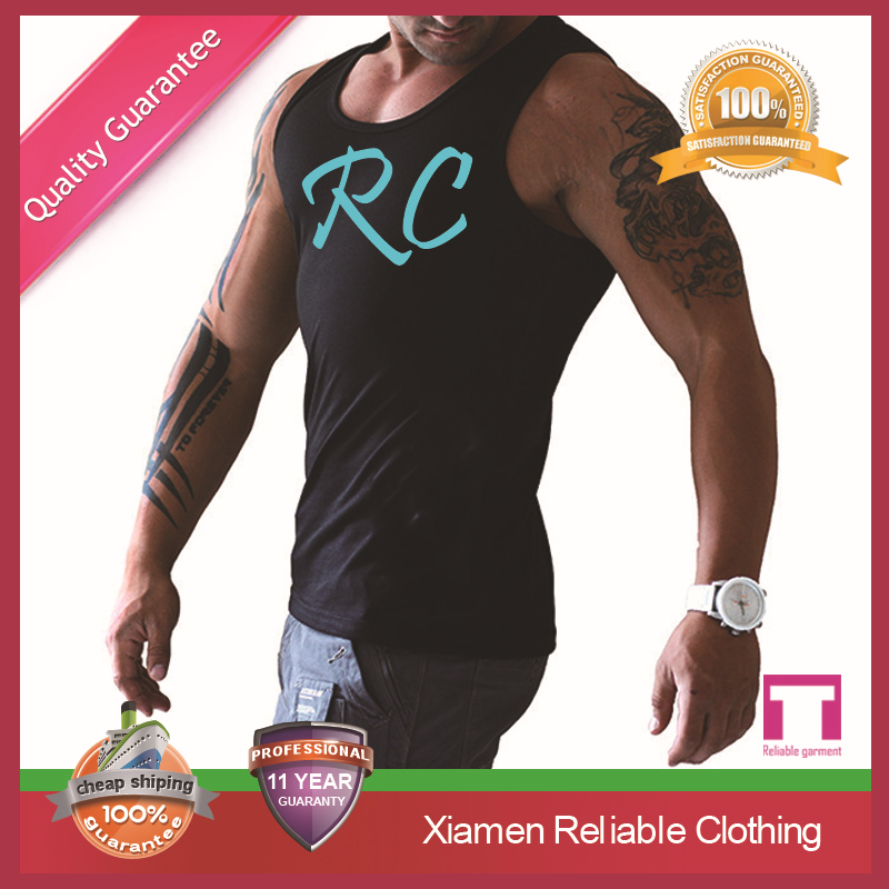 Custom top quality 100% cotton men gym tank tops/men's gym wear sportswear manufacturer youth fashion styles