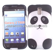 Decal water printing Panda Design Case For Samsung Galaxy S II SGH-T989 snap on design case