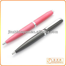High quality logo imprinted ballpoint pen metal, promotional gift ball point pen with slanting top