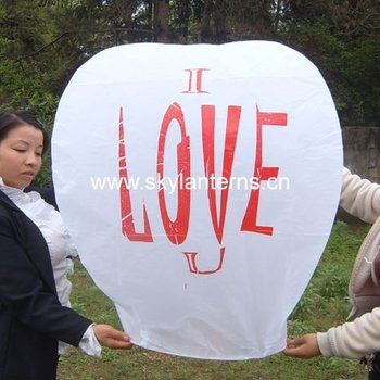 ECO metal free sky lantern with printed