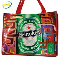 reusable waterproof beer carry bag for shopping
