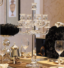 crystal chandeliers table for weddings, tall wedding candelabra centerpiece crystals