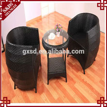 SD Outdoor waterproof wicker coffee table garden break up set