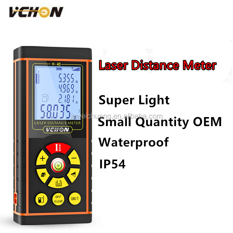 Measure Area Volume Pythagoras 0.1m 100m Range Finder 1.5mm Accuracy Tool Meter Feet Inches Units Digital <strong>Laser</strong> Meter