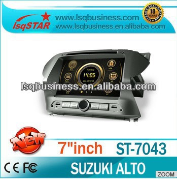 LSQ Star autoradio For Suzuki Alto Manufacturer With 3g/dvd/bluetooth/tv/ipod Hot!