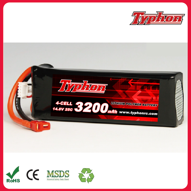 FT010 FT011 2.4G RC racing boat 25c 14.8V 3200 Mah Li-polymer battery