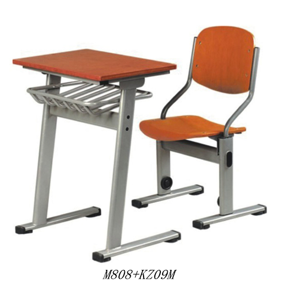 Classroom tables and chairs Kids study table Modern design school desk and chair on sale M808+KZ09M