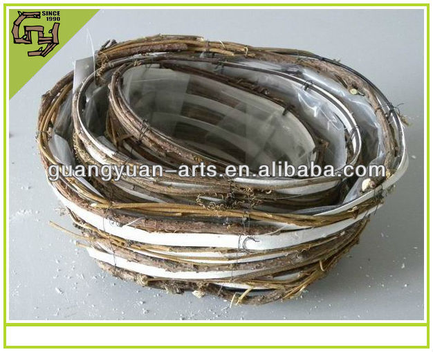 natural material white wicker basket