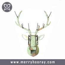 DIY Creative Deer Head Villa European Style Drawing Room Bar Hotel Background Animals Wooden Wall Hanging Home Decoration