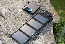 20000mAH Waterproof Solar Charger Portable Foldable Solar Panel Charger Solar Bank Power 18V 14W Solar Laptop Panel Charger