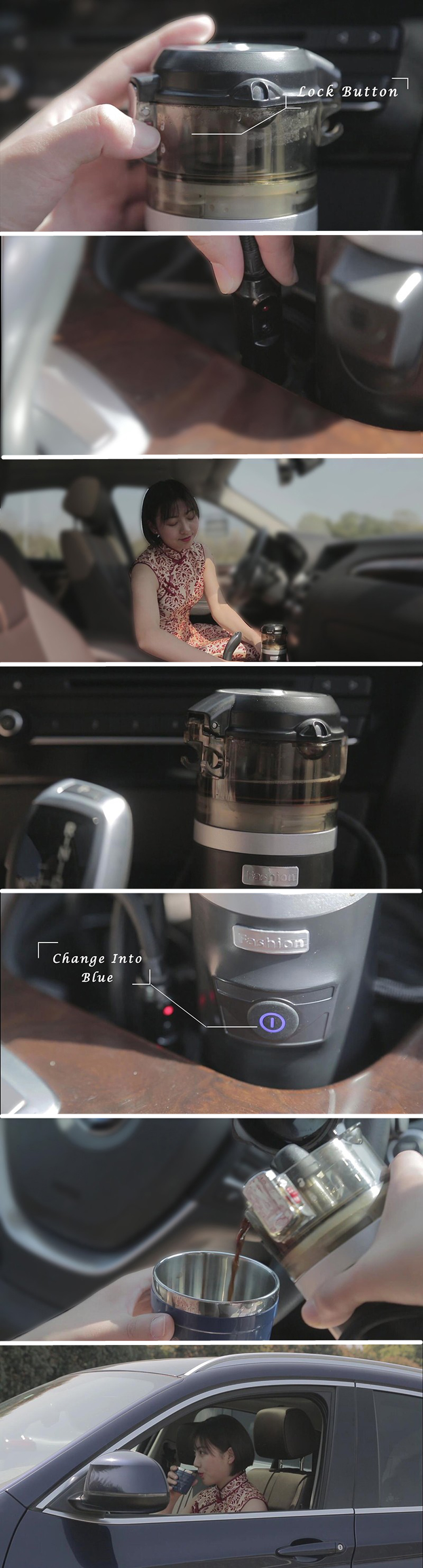 Portable travel camp 12v Car Coffee maker espresso car coffee maker 24v car coffee maker