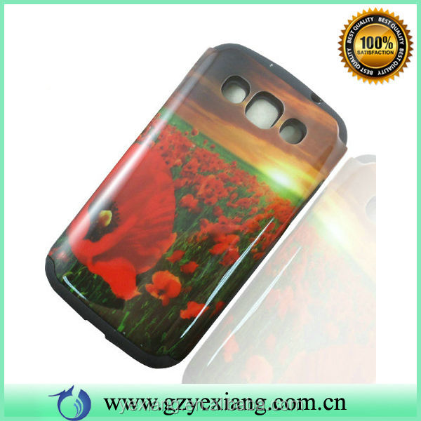 Hybrid Back Rubber Case For Samsung Galaxy Win Duos GT I8552 Cover