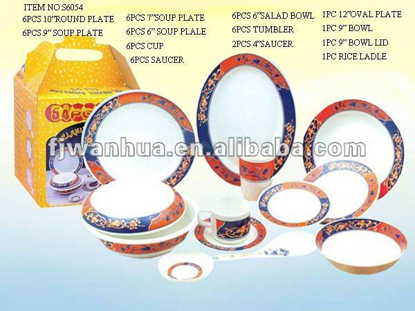 Dinnerware set used household items